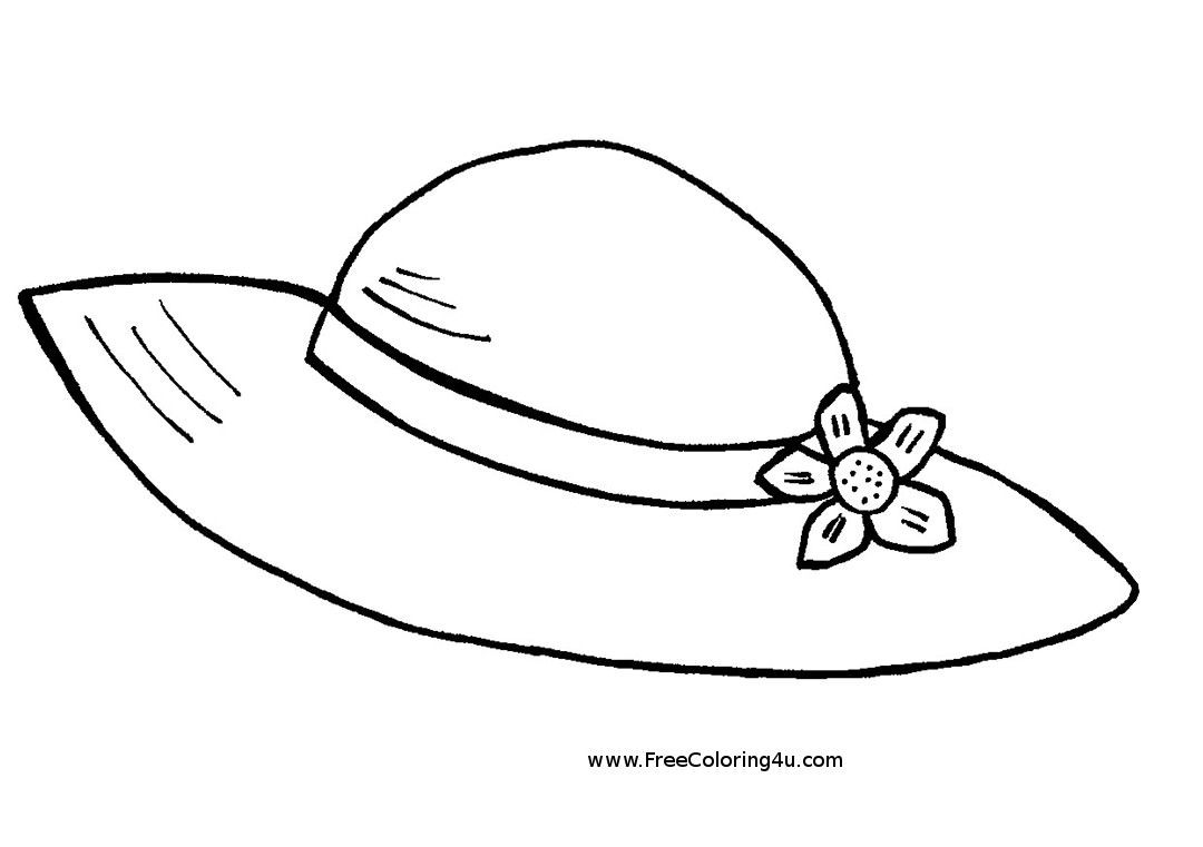 Summer Hat Free Printable Coloring Book Page Summer Hat Picture