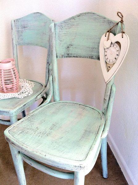 2 wundersch ne orig thonet st hle vintage m bel chabby chic vintage. Black Bedroom Furniture Sets. Home Design Ideas