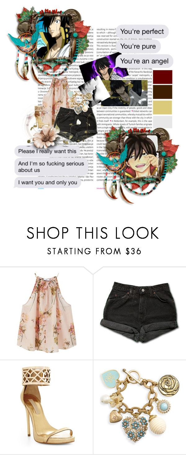 """""""Zeref Black Mage"""" by bambolinadicarta ❤ liked on Polyvore featuring Oris, MANGO, Levi's, BCBGMAXAZRIA, Juicy Couture, FairyTail, Zeref and BlackMage"""