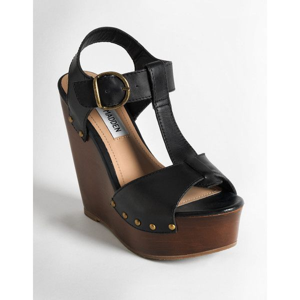 98d8365353d Steve Madden Wyliee Leather Wedge Sandals found on Polyvore ...