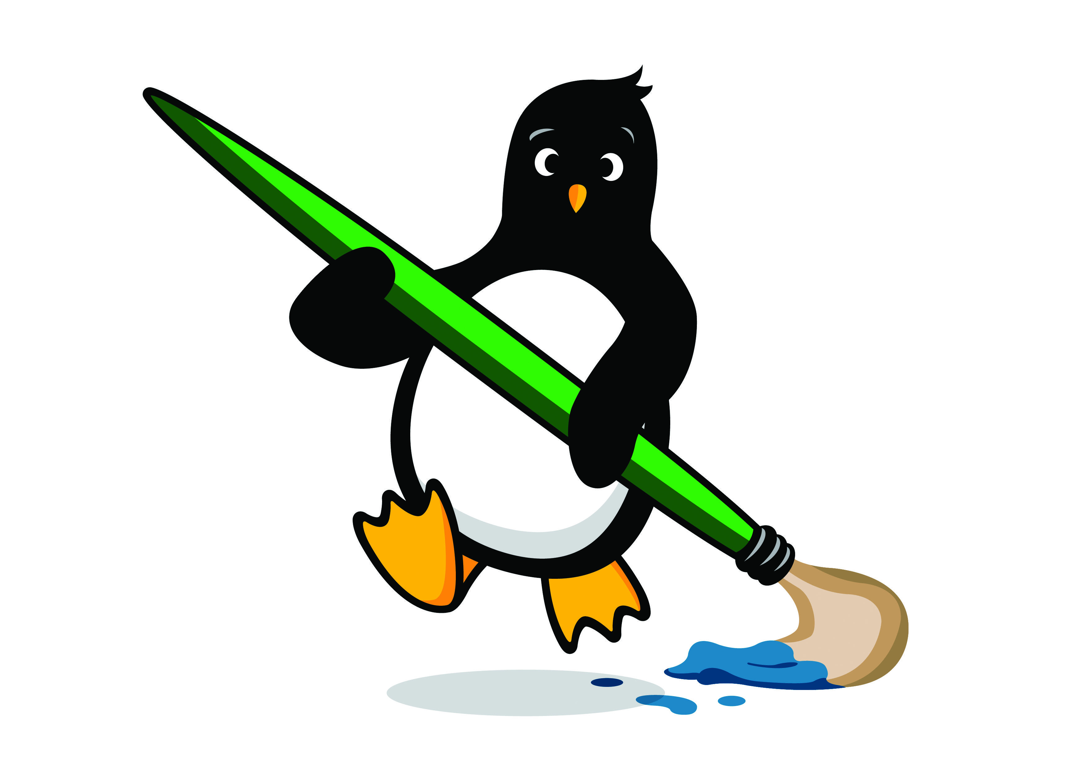 Our Penguin Pack penguin! What shall we name him? Or her? Stay tuned for where to send your ideas!
