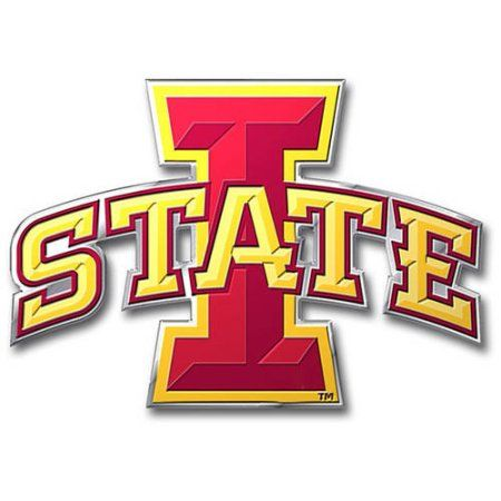 Ncaa Iowa State Cyclones Color Bling Emblem Red Iowa State