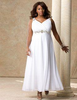 Plus Size Second Wedding Dresses | ... Plus-Sized Brides ...
