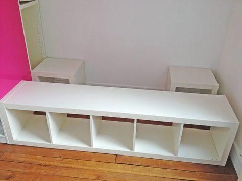 Bett selber bauen ikea kallax  Bett /Leseecke | Bett selber bauen | Pinterest | Ikea hack, Room ...