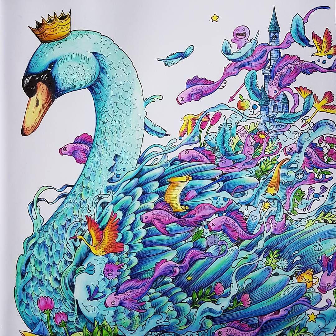 Instagram Photo By Izabela Szadkowska Jun 19 2016 At 2 36pm Utc Animorphia Coloring Book Animorphia Coloring Colouring Heaven