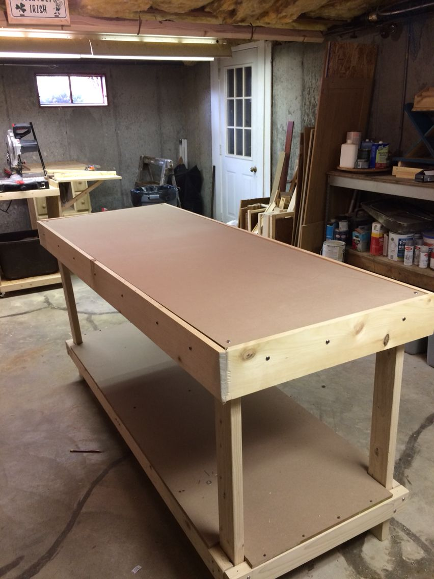 Workbench Made From 2x4 Mdf Osb And To Finish It Off 1x6