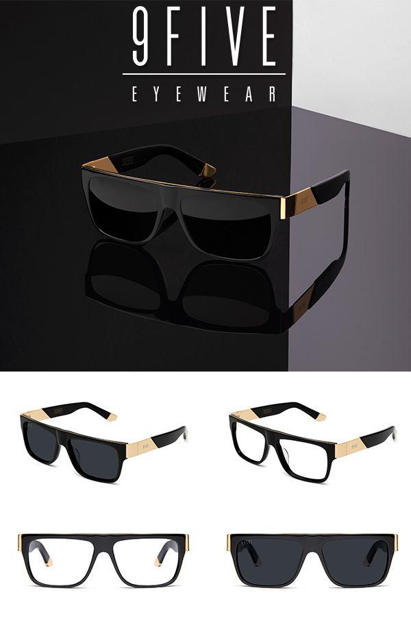 4184e05ec8 9FIVE 22 Black   24k Gold Sunglasses