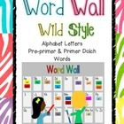 This is an entire zebra-striped word wall set - perfect to make a Word Wall in your classroom!  It includes: *Alphabet letter cards with picture cu...