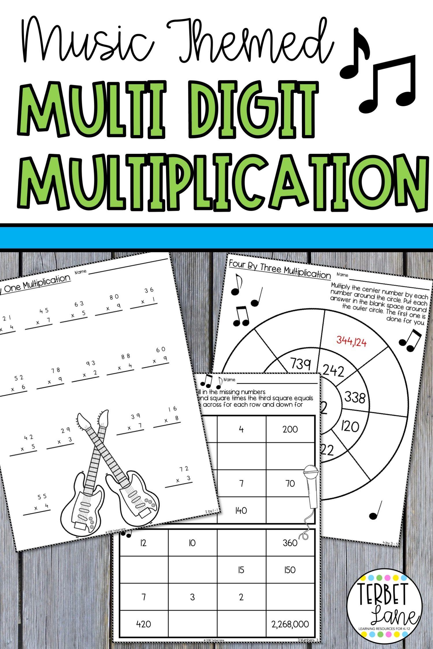 Multi Digit Multiplication Worksheet