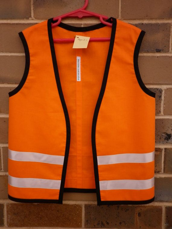 Childs Construction Workers Vest Costume By
