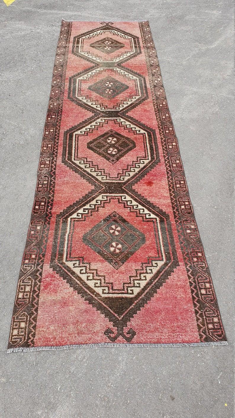 Vintage Runner Rug 3 6 X 13 Ft Turkish Rug Bohemian Rug Etsy Rug Runner Hallway Bohemian Rug Rugs On Carpet