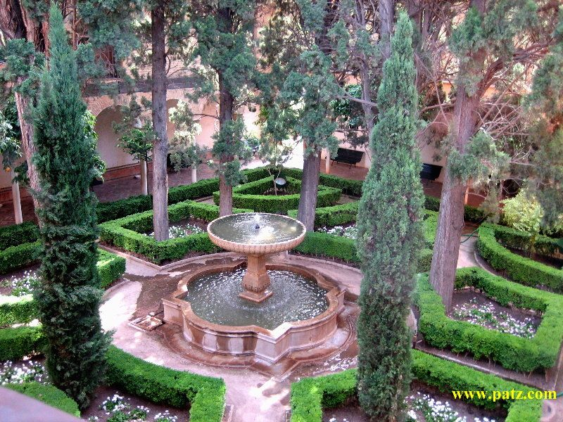 The Gardens Of Generalife At Alhambra Grenada Spain
