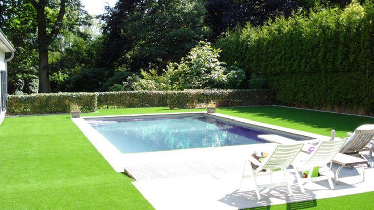 Moderner Kunstrasen für den privaten Garten mit Gartenpool von ...