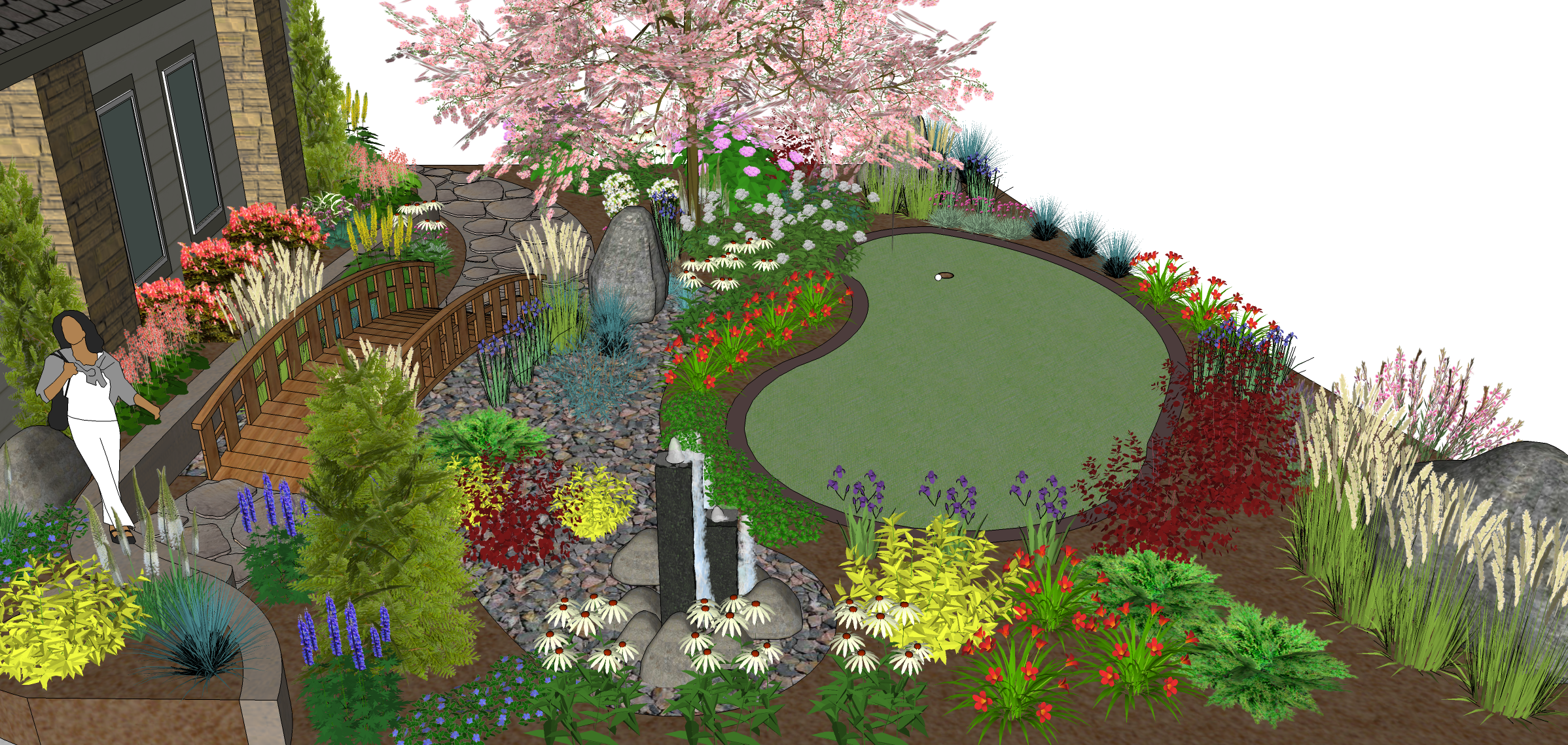 Render of a Greentree Outdoor Living 3D landscaping ... on Masterplan Outdoor Living id=85331