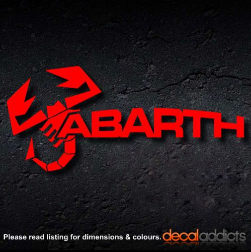 Abarth Scorpion Logo Amp Text Vinyl Decals Stickers Fiat 500 Punto