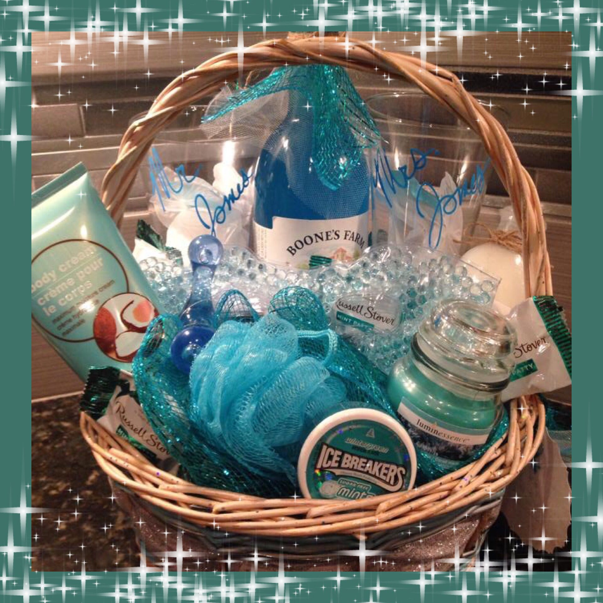 Wedding Or Honeymoon Gift Basket For Him And Her Couples Newlyweds Anniversary