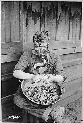 40th Division recruit cutting onions during K.P. at Camp Kearney, CA