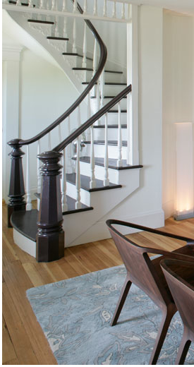 Best Dark Treads And Railing Light Floor Stair Direction Light Wood Floors Wood Staircase 640 x 480