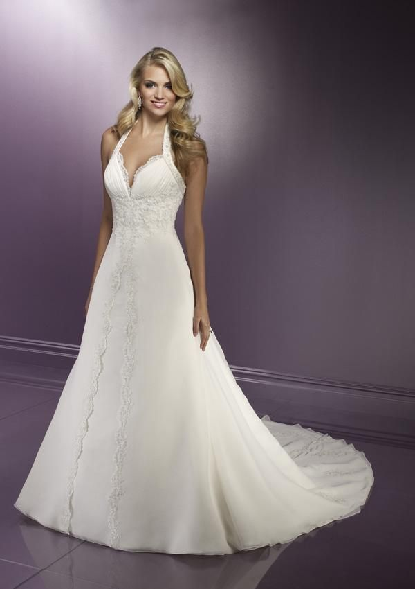 A Line Wedding Dresses One Beautiful Halter Dress Discover As The