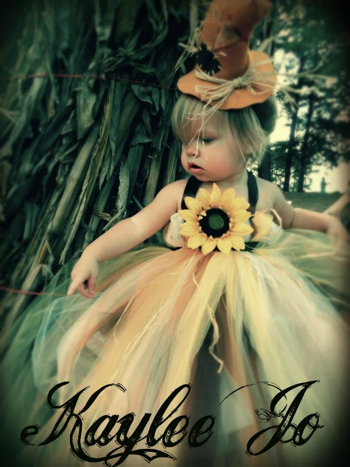 Scarecrow tutu dress halloween costume   wwwfacebook - scarecrow halloween costume ideas