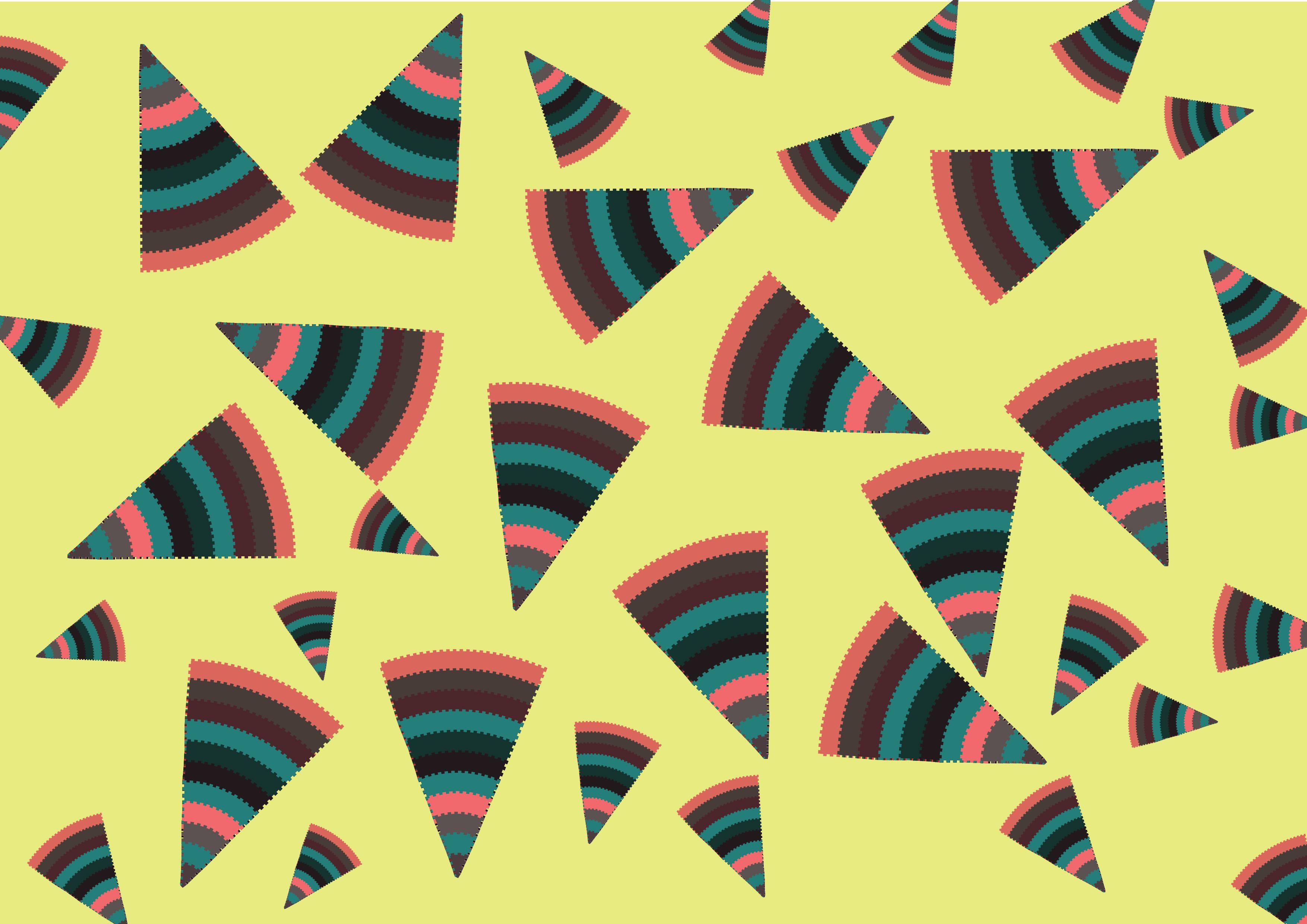 9 - Tema desarrollado: REPRODUCCIÓN. Secuencia de imágenes en 9 pasos en forma de story-board del concepto asignado. Se utilizaron formas geométricas no figurativas y colores para hacer visible el concepto anteriormente mencionado.