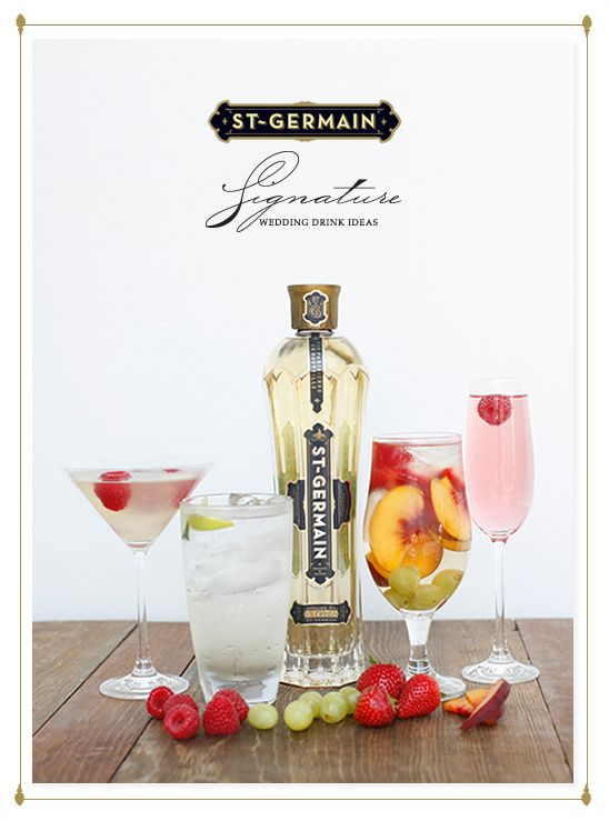 Signature Wedding Drink Ideas By St Germain Refreshing Drinks Recipes Wedding Signature Drinks Wedding Drink