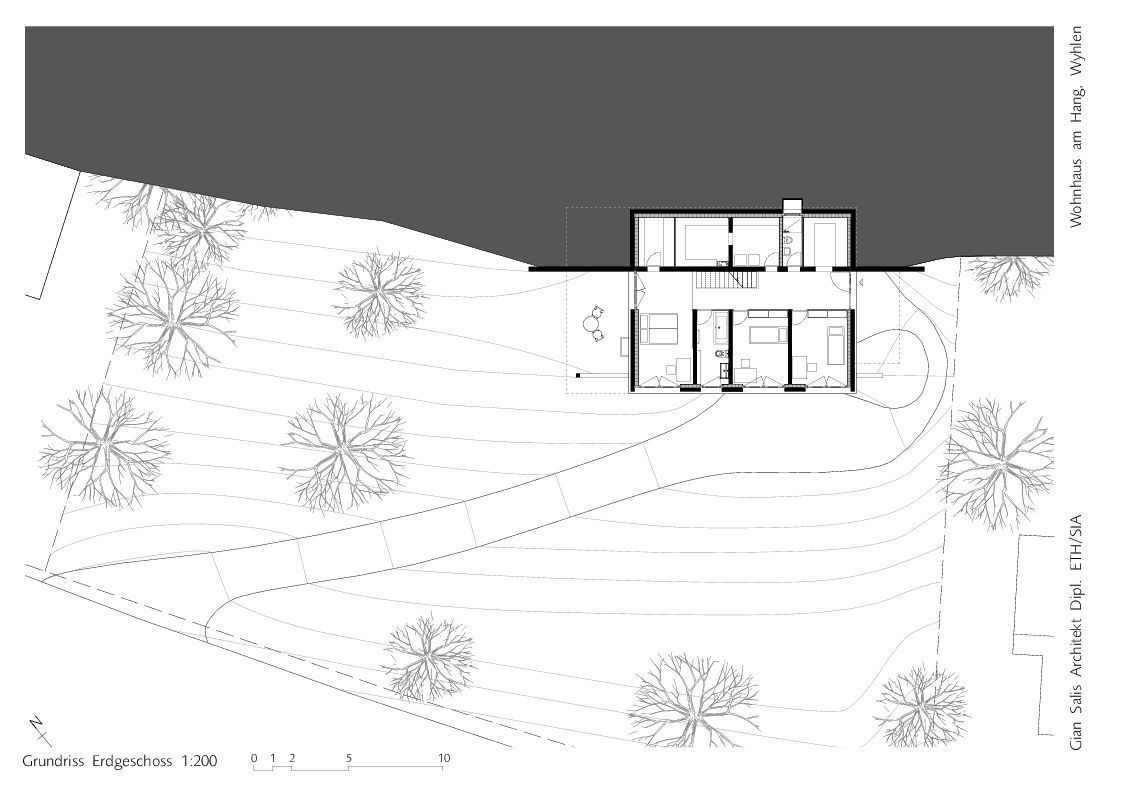 exceptional slope home plans #10: Gallery of House on a Slope / Gian Salis Architect - 17
