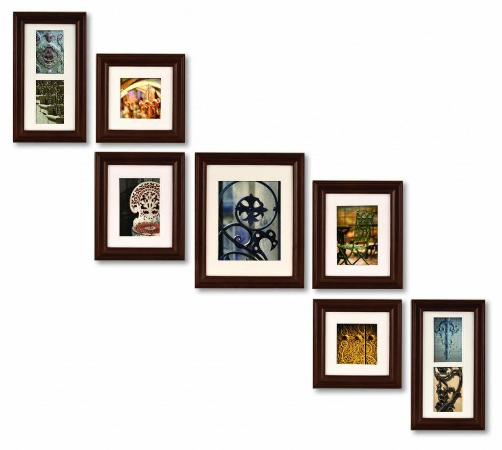 Frame collage for stairs.... or not. Stepping frame format. | Home ...