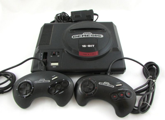 Sega Genesis 16 Bit Console Model 1601 Power Supply Controllers Tbt Throwbackthursday Gaming Products Sega Genesis Console