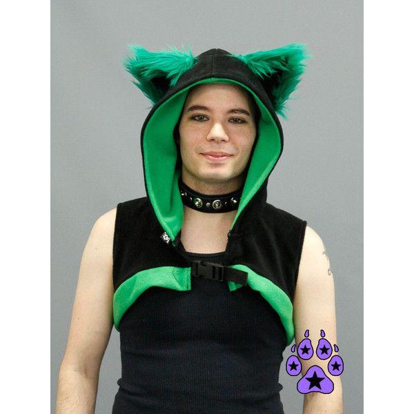 20785417c74f7 Pawstar kitty cat sleeveless shrug you choose color theme anime jpg 600x600  Kitty fox green jacket