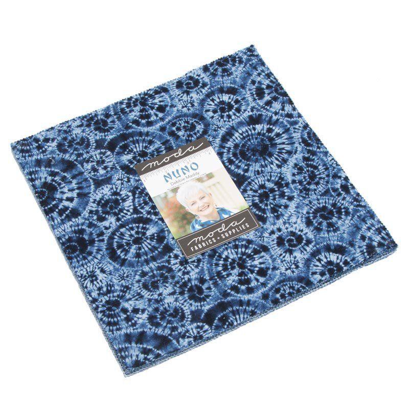 Nuno Layer Cake Indigo Blue And White Fabric Moda 48040lc 10 Inch Precut Fabric Squares Shibori Precut Fabric Quilts Shibori Fabric Precut Fabric Squares