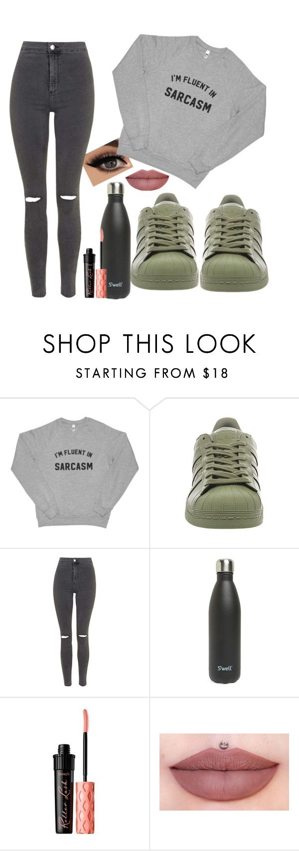 """Untitled #83"" by emswilliams ❤ liked on Polyvore featuring adidas, Topshop and S'well"