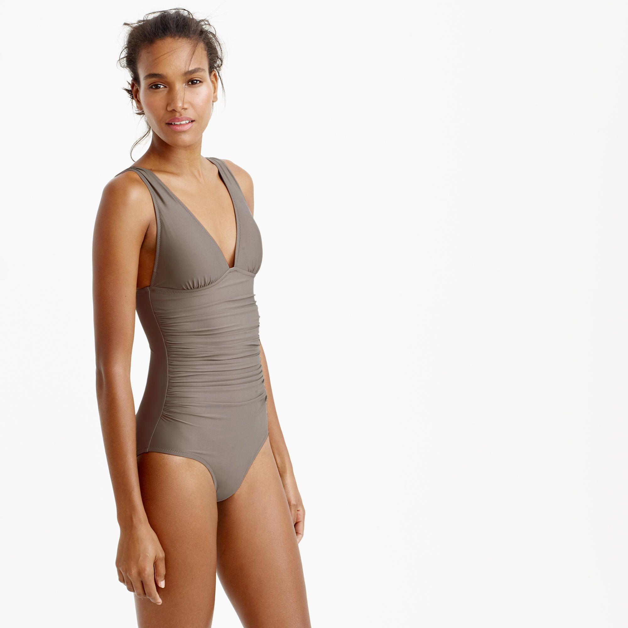 e13b70df94e6c4 $104 Long torso ruched femme one-piece swimsuit : long torso | J.Crew
