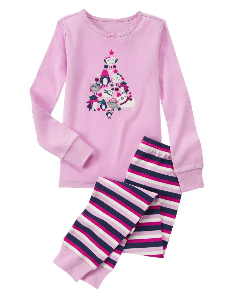 nwt gymboree polar pals owl penguin christmas holiday gymmies pajamas pjs girls gymboree pajamaset