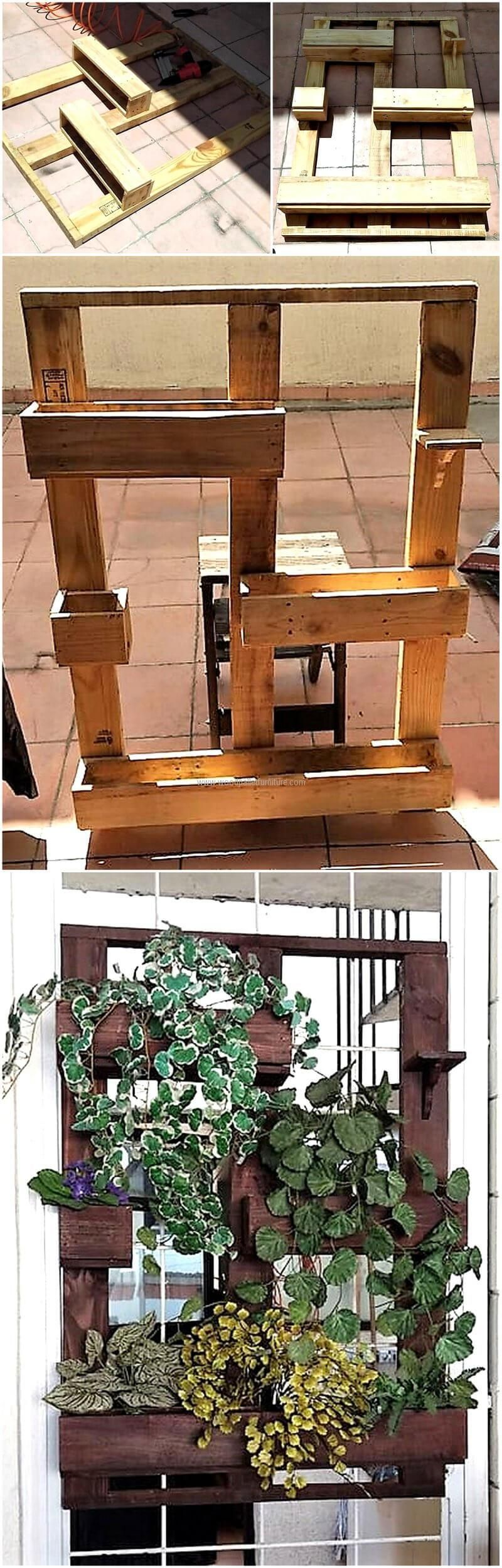 Wooden transport pallets have become increasingly popular for diy - Diy Wooden Pallet Hanging Planter