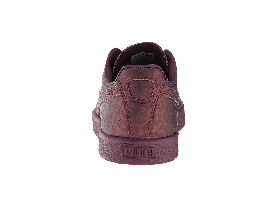 04890a707ca PUMA Clyde Sheer Animal Women s Shoes Fig Puma Black
