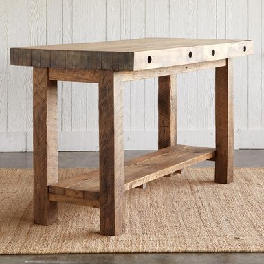 MADISON BREAKFAST BAR    Slabs Of Pecan Flooring, Reclaimed From An Old  Wisconsin Factory. Table FurnitureRustic ...