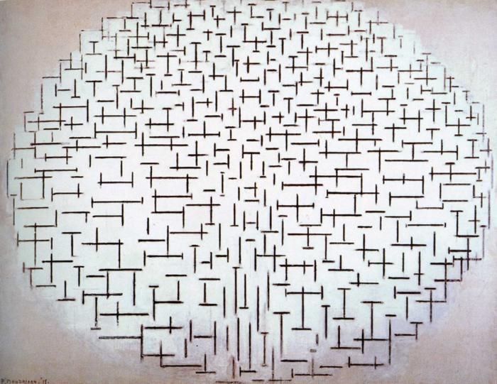 """Piet Mondrian - """"Composition No. 10 (Pier and Ocean)"""" (1915)"""