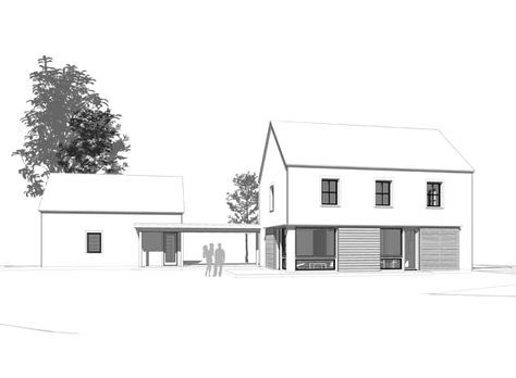 go logic 2300 sf prefab home - rendering of front of home
