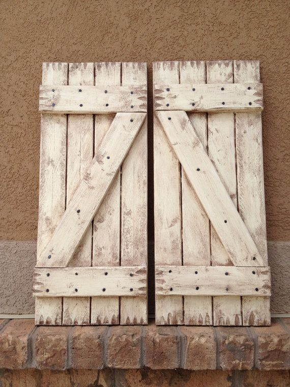 Pin By Kellye Cupit On House Ideas Rustic Shutters White Shutters Shutters Exterior
