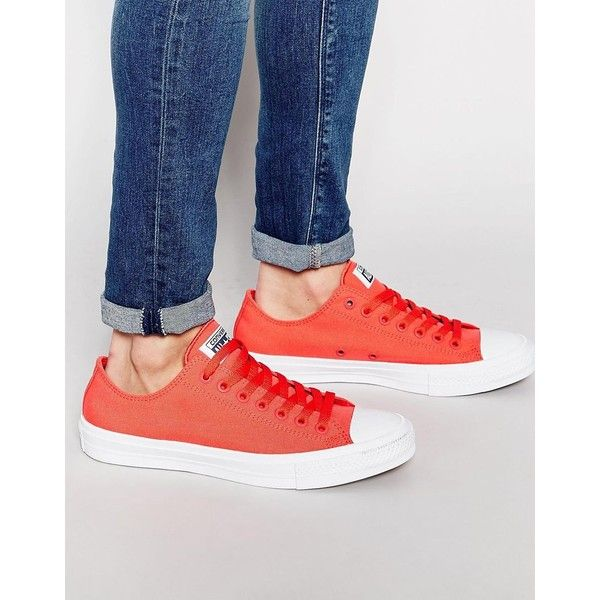 all red converse mens