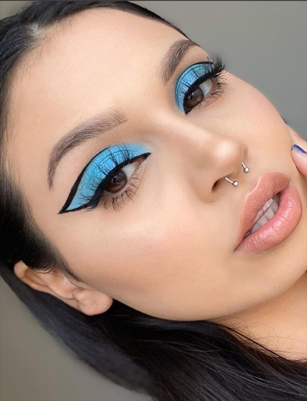 Photo of Creative Colored Eye Liner Makeup Looks By Eye shadow Palette –