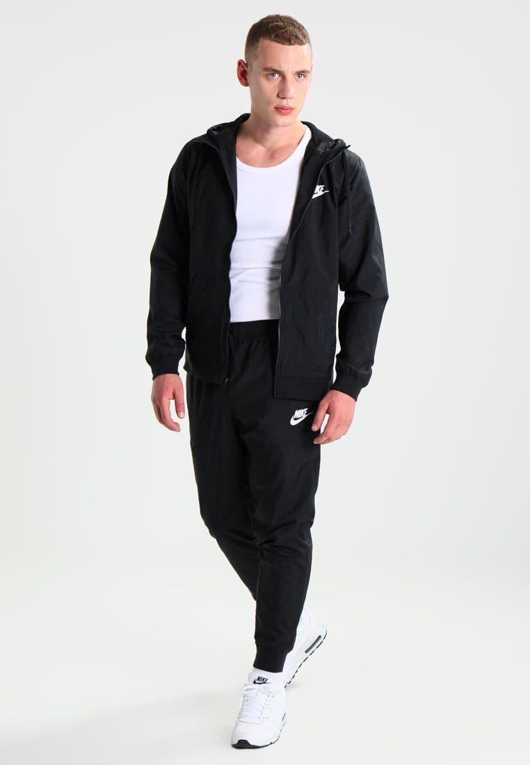 Nike Sportswear HYBRID - Chándal - black/white BxFI7HHs