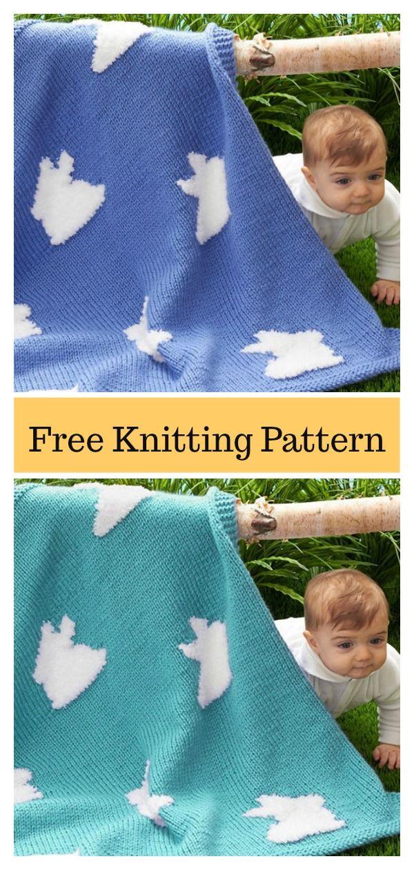 Bunny Blanket FREE Knitting Pattern | Bunny blanket ...