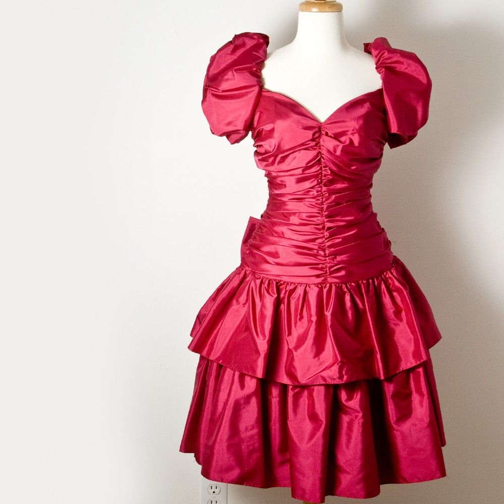Perfectly Poofy Vintage 80s Prom Dress. | I Love The 80s ...