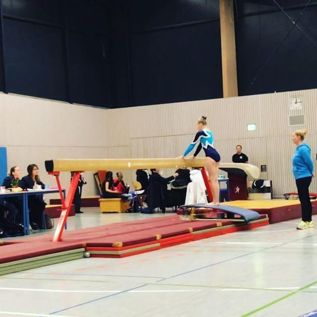 Wettkampf Balken Kur Wettkampf Competition Gymnastics Turnen
