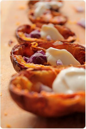 Roasted Potato Skins with Cheese and Onions: Der absolute Wahnsinn!