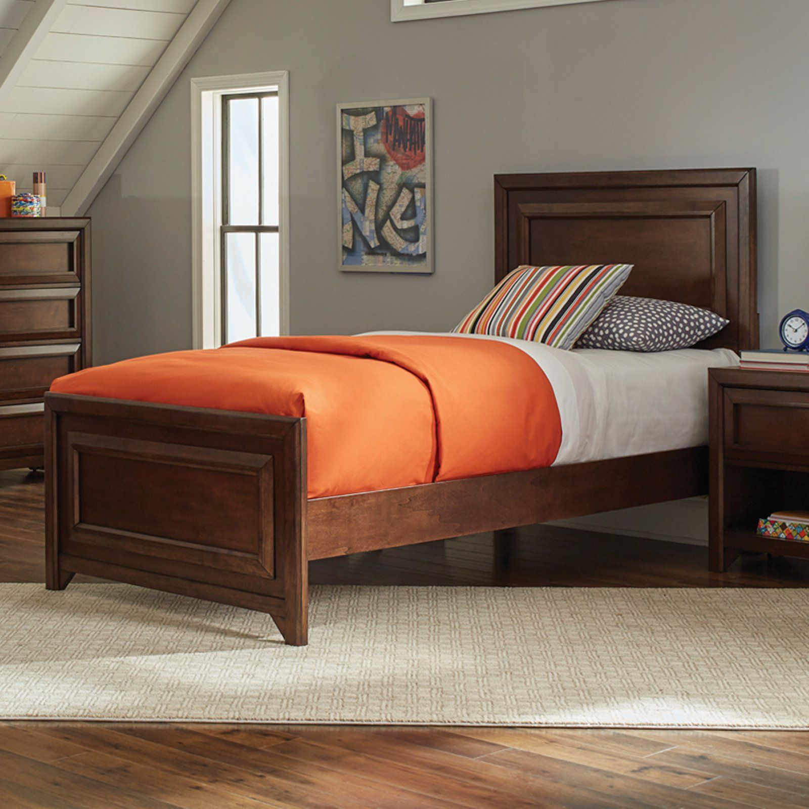 Coaster Furniture Greenough Bed With Picture Frame Detail Maple