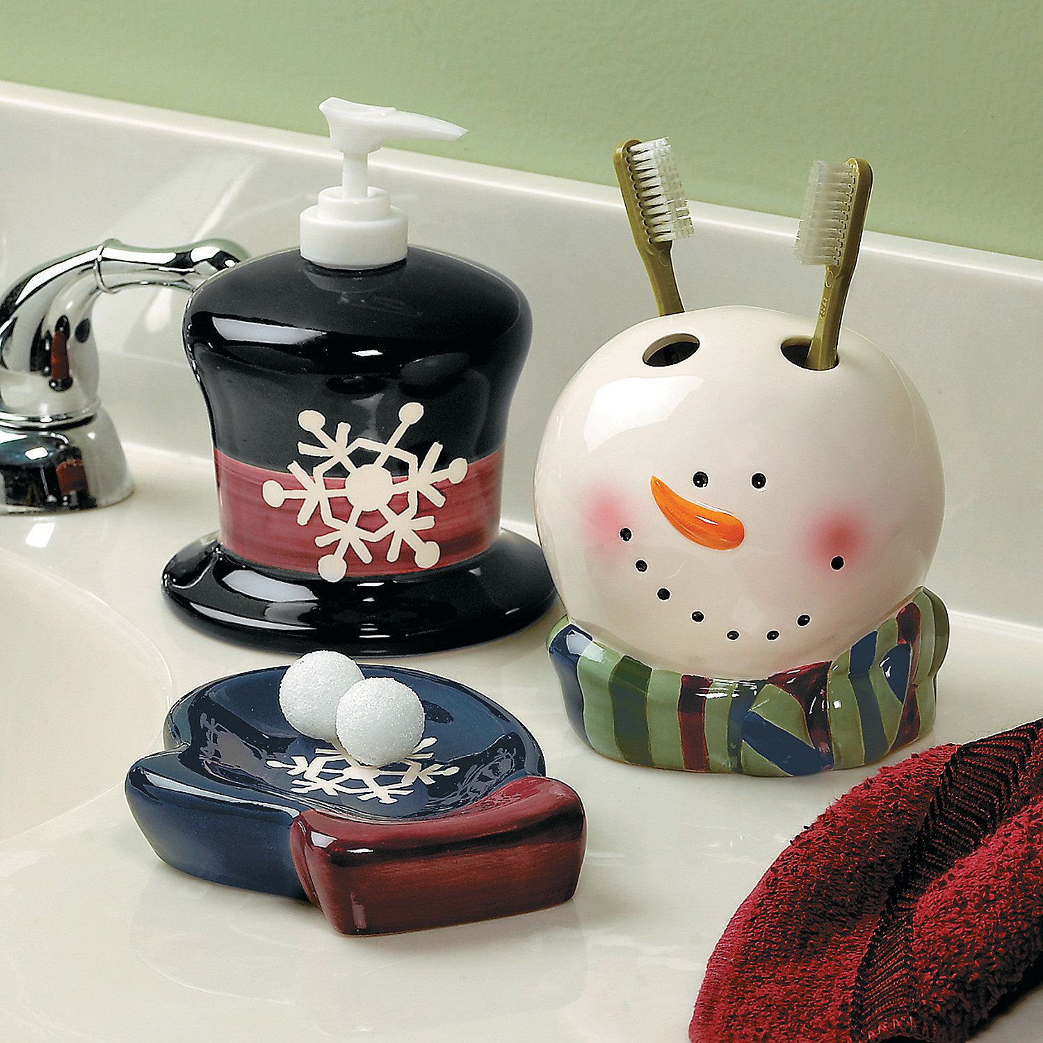 Snowman Bathroom Sets Snowman Bathroom Accessories Orientaltrading