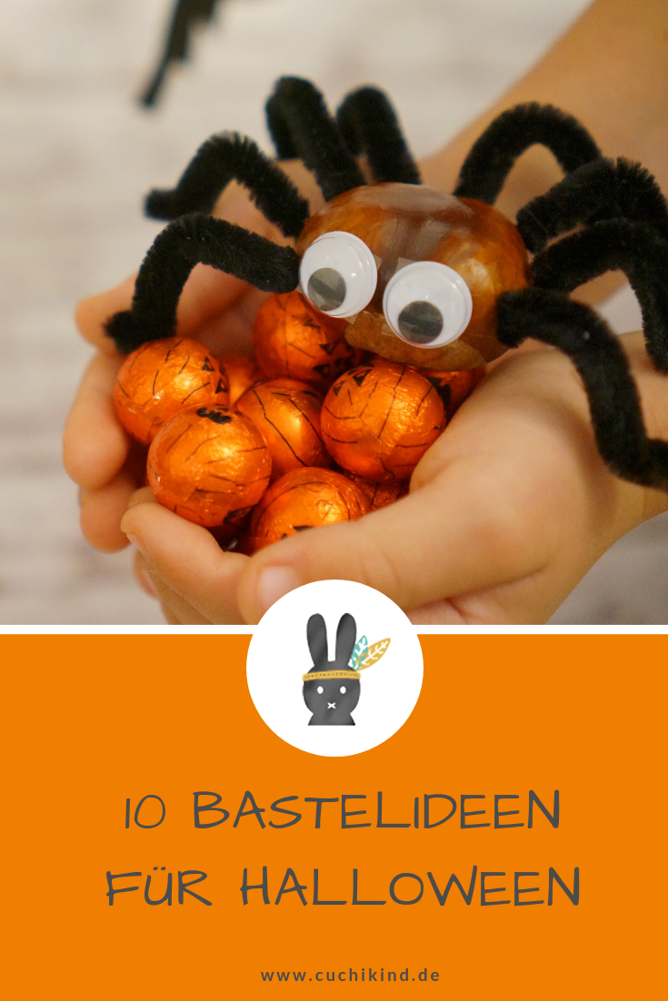 Basteln für Halloween #kastanienbastelnkinder